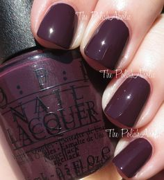 OPI Holiday 2014 Gwen Stefani Collection. Sleigh Parking Only is a dark plummy purple creme.