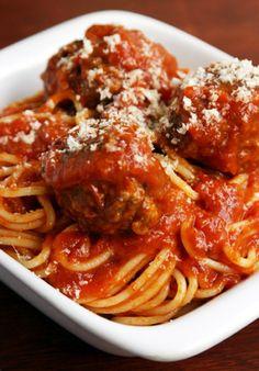 Spaghetti & Meatballs. Delicious, generous. On most Wednesdays. Yum!