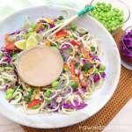 Raw Rainbow Noodle Bowl + Thai Peanut Sauce