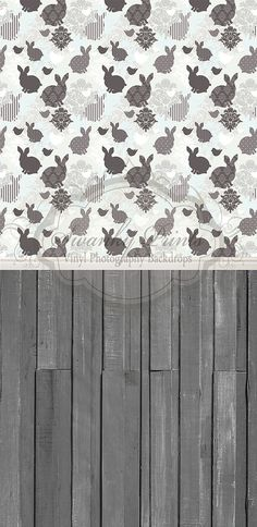 Easter Damask & Dark Gray Wood - Oz Backdrops and Props