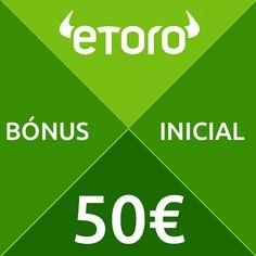 Comece a negociar #forex no melhor #broker de iniciação - #Etoro.  Receba um bónus de €50 inicial para negociar sem risco.    http://www.investforex.pt/traderpro/brokers/etoro/  #bonusforex #negociarforex