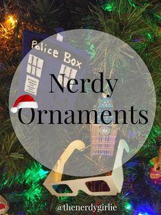 Nerd Crafts:  Nerdy Ornaments