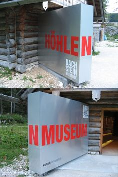 Wayfinding and Typographic Signs - dachstein-world-heritage-museum