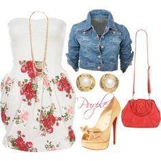Love Espadrilles, Outfit Trends, Outfit Ideas, Strapless Floral Dress, Queen, Crop Tops, Polyvore Outfits, Fashion Outfits, Womens Fashion