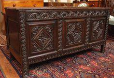 A Good Charles II Oak Coffer