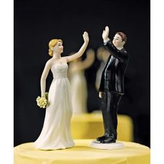 """// Give me a Five!  Wedding Cake Toppers Set.....would have to paint since this company doesn't really do """"interracial"""" couples"""