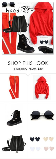 """""""Sporty Style, Cropped Hoodie and Pants"""" by jecakns ❤ liked on Polyvore"""