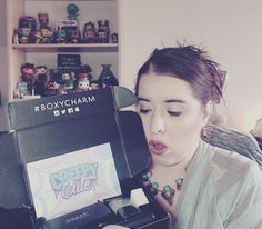 """I filmed my oooh-oooh-ooopening of this months """"Creepy Cute"""" themed @boxycharm Should be uploaded this weekend for you  . . http://www.youtube.com/user/besobeauty . . . #boxycharm #creepycute #unboxing #makeup #makeupjunkie #beauty #beautyaddict #smashbox #crownbrush #nakedcosmetics #realher #youtube #boxycharmmarch2017"""