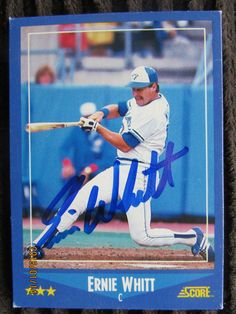 1988 Score #168 Ernie Whitt (TTM) 12/31/2015-1/12/2016--12 Days