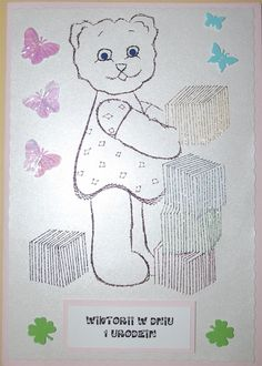 Photo: Kartka na roczek dla dziewczynki