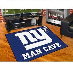 """New York Giants Man Cave All Star Area Rug Floor Mat 34"""" X 45"""""""