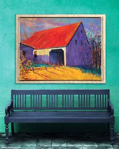 "RFA Decor, High Point Market Spring 2015 Collection | ""Barn Dance"", a giclee of an original acrylic painting by Larry Behunek. Showroom: H223, Hamilton Wing - IHFC. www.rfadecor.com/product.html?cid=2877 #HpMkt #HpMkt2015"