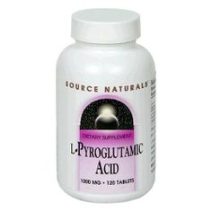 Source Naturals L-Pyroglutamic Acid 1000mg, 120 Tablets by Source Naturals. $20.23. Dietary supplement. L-Pyroglutamic Acid is naturally found in many foods. It is believed to be associated with activity of a key neurotransmitter, acetylcholine, and with the production of GABA and glycine, two other important neurotransmitters (These statements have not been evaluated by the Food and Drug Administration. This product is not intended to diagnose, treat, cure or prevent ...