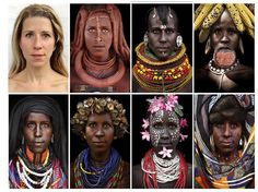 Journalist Morphed Herself Into Tribal Women To Raise Awareness Of Their Secluded Cultures | Bored Panda
