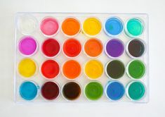 Mixing Colors: Color Array Using a Tray and Pipettes via @https://www.pinterest.com/cmarashian/boards/