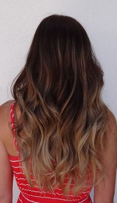 Dark Brown to Light Brown Ombre Hair. thinking about doing this to my hair.