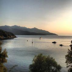 Sunset in Viticcio, Elba Island -
