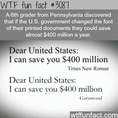 How to save the United States 400 million dollars - something so simple but I'm sure before they could do something like this it would cost billions to study it to see if it would work or not. Kids always ask the best questions too. This time the kid found the answer too.