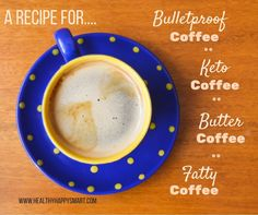 "GONE In 13 Days With This Strange ""Carb-Pairing"" Trick Bulletproof coffee, keto coffee, butter coffee, fatty coffee. Same thing, different names. Enjoy this bulletproof… Keto Bullet Proof Coffee, Whole Food Recipes, Keto Recipes, Healthy Recipes, Clean Dinner Recipes, Coffee Guide, Coffee Poster, Diet Plan Menu, Great Coffee"
