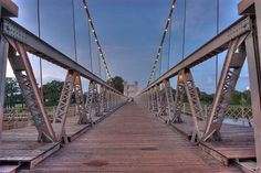 Waco, TX -- Suspension Bridge