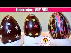 Discover recipes, home ideas, style inspiration and other ideas to try. Chocolate Art, Pelo Chocolate, Chocolate Caliente, Pan Dulce, Chocolate Decorations, Easter Colors, Cakes And More, Popsicles, Happy Easter