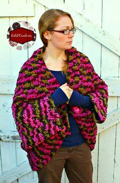 Free crochet Indoor Jacket/blanket pattern