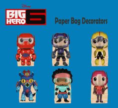Big Hero 6 Birthday Party Bag Decorator Set of 5 (Instant Download)