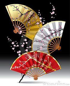 Japanese paper folding fans, Sensu 扇子 http://www.dreamstime.com/stock-images-japanese-fans-image19055344