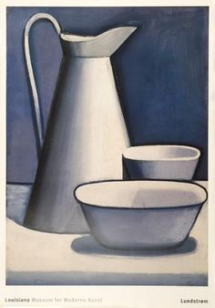 """Danish artist Vilhelm Lundstrøm (1893-1950) """"Opstilling med kande"""", 1925"""