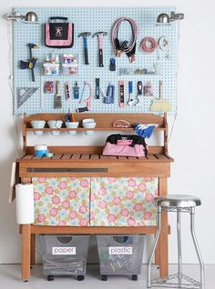 Girly girl workshop | 37 Ideas For A Clutter Free Organized Garage – Storage Tips
