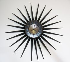 My white whale - Large Vintage Elgin Starburst Wall Clock 24 by TheeLetterQ on Etsy White Whale, Mid-century Modern, Vintage Clocks, Mid Century, Wall Decor, Brass, Wall Clocks, Metal, Gold
