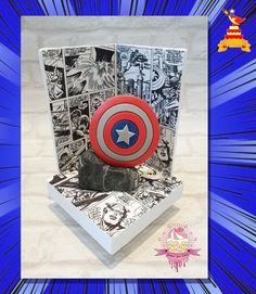 Marvel Fan, Marvel Comics, Chicago Cubs Logo, Comic Strips, Captain America, Collaboration, Presents, Comic Books, Cake