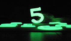 An image of my large solar house numbers.