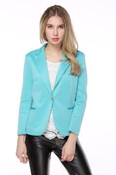 03033d2a140 TopStyliShop Women s Green Blazer with Point Collar at Amazon Women s Coats  Shop Green Blazer