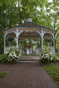 Get married in a gazebo-didn't happen the first time but maybe the next time