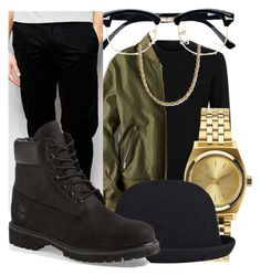"""""""Call Me Classy Daddy """" by lilly-love-868 on Polyvore featuring American Eagle Outfitters, Topman, Nixon, kangol, Farah, Timberland, men's fashion and menswear"""
