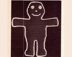 Genuine Vintage 'Adorable' GINGERGREAD MAN Pot Holder or Stuffed Toy Crochet Pattern PDF Crochet Motif, Knit Crochet, Stuffed Toy, Retro Home Decor, Retro Toys, Vintage Knitting, Pot Holders, Pdf