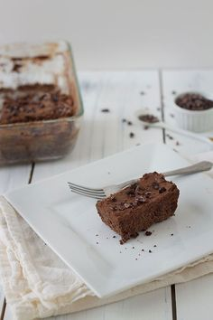 Paleo brownie cake with frosting