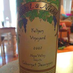 2007 Nickel & Nickel 'Kelham Vineyard' Cabernet #wine #Oakville #Napa
