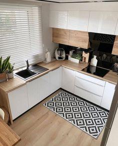 Kitchen Room Design, Cozy Kitchen, Modern Kitchen Design, Home Decor Kitchen, Interior Design Kitchen, Kitchen Furniture, New Kitchen, Home Kitchens, Kitchen Ideas