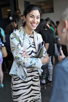 Caroline Issa at New York Fashion Week