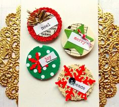 Holiday Vintage Paper Stickers - Merry. Noel. Joy. Peace.