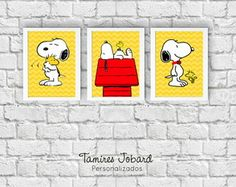 Pôsteres A3 - Snoopy Yellow