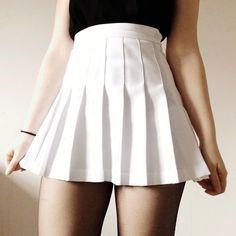 f74631b11 American Apparel skirt - too obvious? White Tennis Skirt, White Skirts, Pleated  Tennis