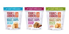 Four Corners Bagel Chips — The Dieline - Branding & Packaging