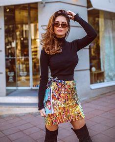 030ca309e Matchstick Paillette Modern Mini Skirt
