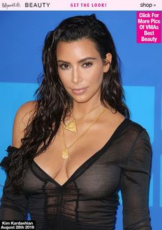 Kim Kardashian's Wet Hair At VMAs — How To Wear Exact Look: Tips From Her Stylist