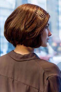 How to fake a bob hairstyle, without cutting an inch. Photos by Heather Talbert