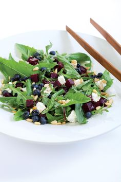 Beets and dandelions brighten up this summer salad. alive.com
