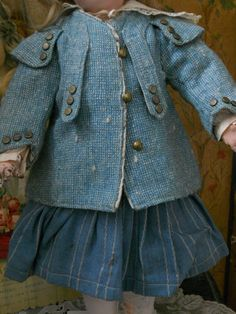 ~~~Very Nice Three Piece Doll Costume / 19th. century ~~~ from whendreamscometrue on Ruby Lane